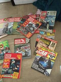A collection of magazines