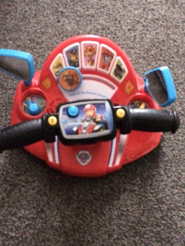 Paw patrol steering wheel