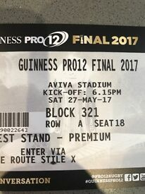 2 Premium Tickets Guinness Pro12 Final - Aviva Stadium