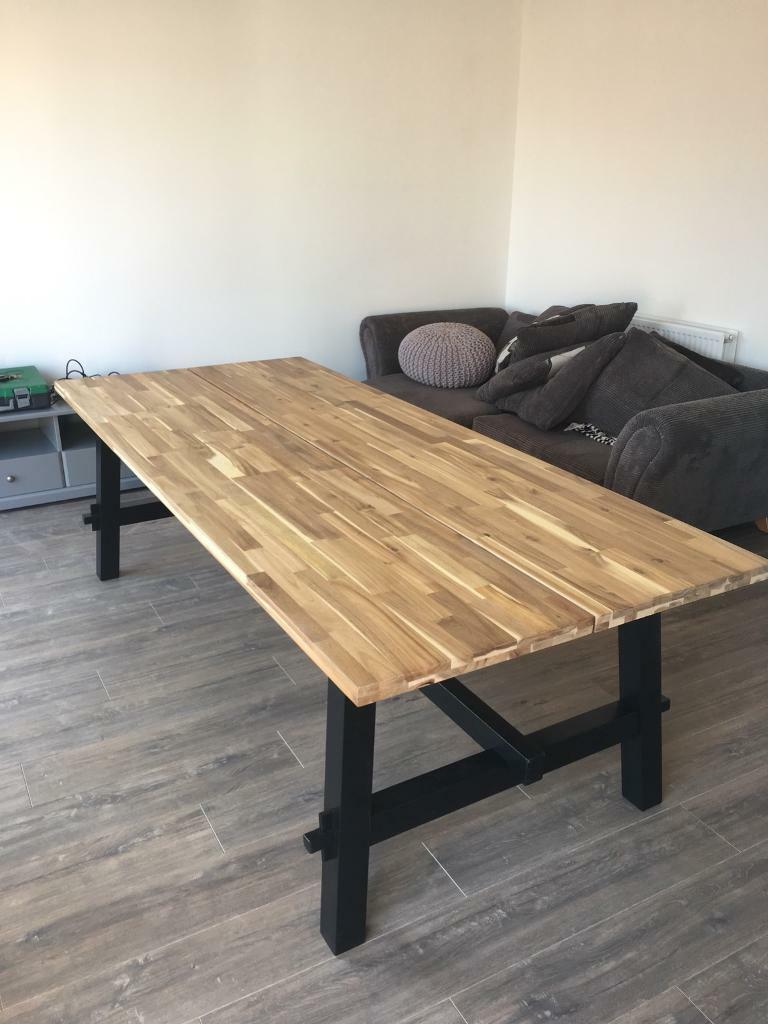 Brand New Ikea Skogsta Table In Bridgend Gumtree