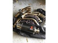 Yamaha XJ6 exhaust black widow full system