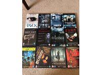 Large bundle of horror DVDs