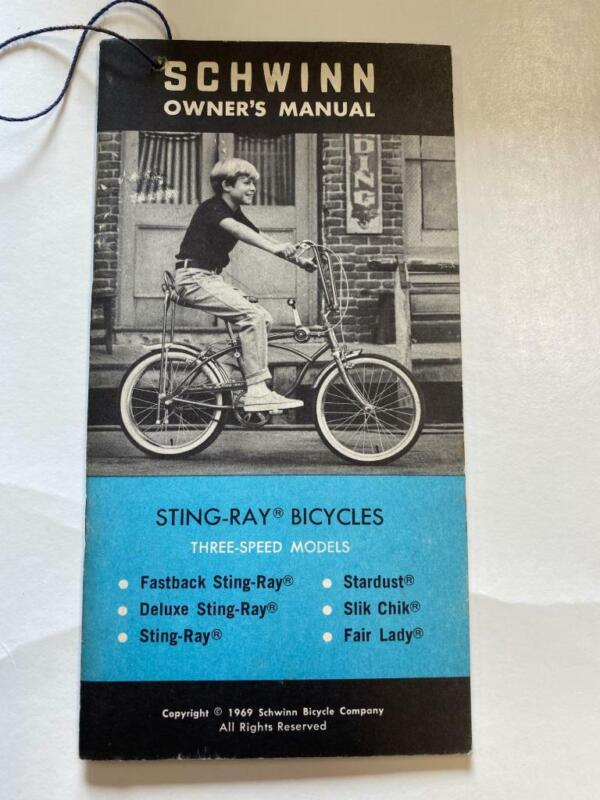 1969 Schwinn Bicycles STING-RAY 3 Speed Model Bicycle OWNERS MANUAL