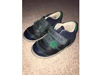 Toddler Clarks 5F blue/green shoes