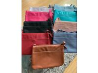 BRAND NEW Mia Tui Soft Faux Leather Shoulder Bag with 3 compartments and Key chain feature