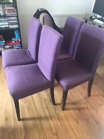 Set of 4 Ikea dining chairs