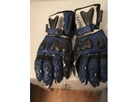Leather motor cycle gloves