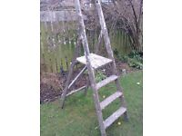 VINTAGE WOODEN STEP LADDERS FOR SALE. PLEASE READ FULLY. COULD DELIVER.