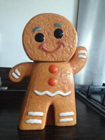 Gingerbread man cookie jar