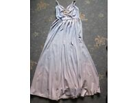 Vintage Beautiful Long Blue/Pink Tone Dress