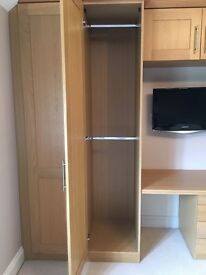 4 door built in Wardrobe with built in dressing table - perfect condition