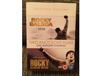 2 X Rocky DVDs as new