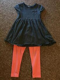 Next legging/dress set Age 4/5 years