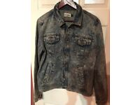 TOPMAN JEANS DENIM JACKET ONLY £14!!!!! SIZE LARGE AS NEW