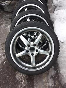 BMW M3 ULTRA HIGH PERFORMANCE WINTER TIRES 245 / 40 / 19 ON ALLOY WHEELS.