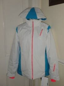 BRAND NEW SPYDER WOMENS SIZE 14-16 SKI SKIING WINTER SNOWBOARDING JACKET, WATERPROOF 20K, THINSULATE