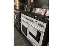 Ex Display 110cm Range Cooker White D/F