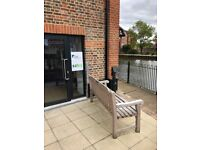 3 Desks available in town centre office on the River Medway , Fibre WIFI and all amenities.