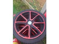 Fox 17 inch alloys Vauxhall