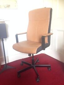 Black and brown IKEA Malkolm office chair