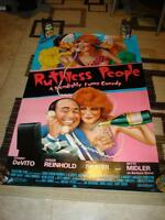 1986 RUTHLESS PEOPLE VHS VIDEO POSTER DANNY DeVITO BETTE MIDLER