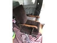 Antique rocking arm chair needs little tlc