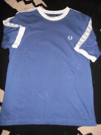 vintage retro fred perry t shirt 1970s MED