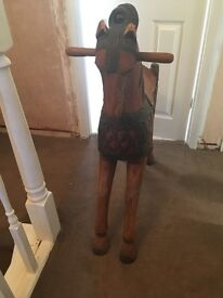 Solid Wooden Decorative Horse
