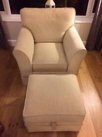 Arighi Bianchi chair and footstool