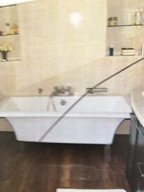 Free standing bath. White as new.
