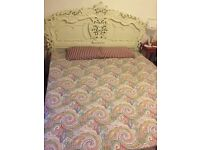 Super king French Rococo Style Bed (Cream Painted) Frame With Mattress
