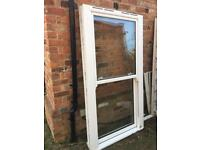 White upvc sliding sash window 1090 x 2050 mm NEW