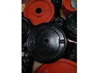 100kg cast iron standard weight plates. £1 per kilo