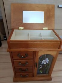 A wooden Jewellery box/ cabinet for sale!