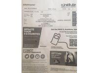 2 Shakka tickets FOR SALE