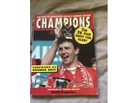 Signed book depicting Man Utd first championship win in 26 years