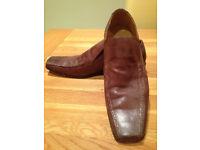 Base Tan 'Lizard' Men's Slip-on Shoes (UK10/EU44) JUST REDUCED
