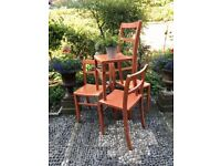 Vintage French School Chairs x 4