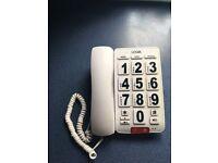 LOGIC BIG BUTTON DESKTOP TELEPHONE