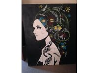 Canvas paintings, hand painted. Very good condition. Suitable for display in home or office.