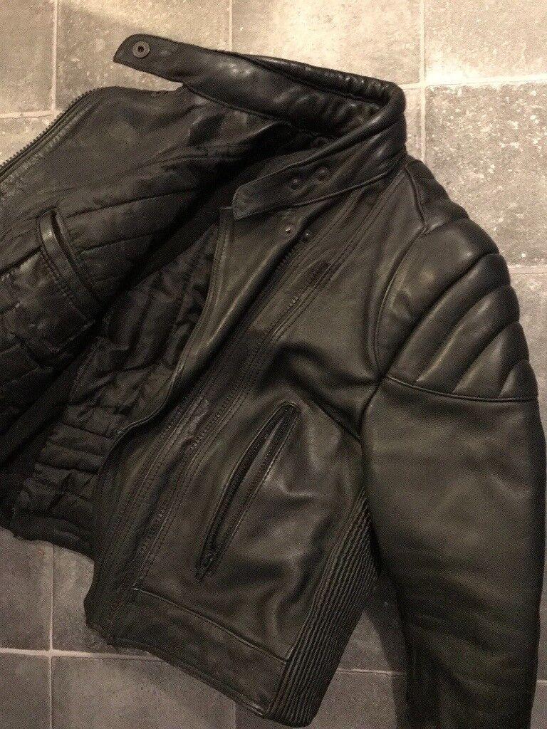 4e49574c1 Frank Thomas Leather Biker Jacket   in Livingston, West Lothian   Gumtree