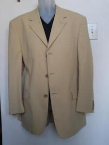 Brand NEW $575 TAG Mens 40R M Summer Jacket ITALY Striped 100% wool Italian Medium Zignone Super 100s Giorgio Valentini