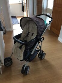 Mamas and Papas polka dot pram