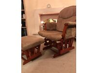 Nursing chair and footstool in good condition