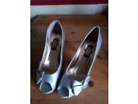 Silver high heals, good condition, size 38 (UK 5) Schuh.