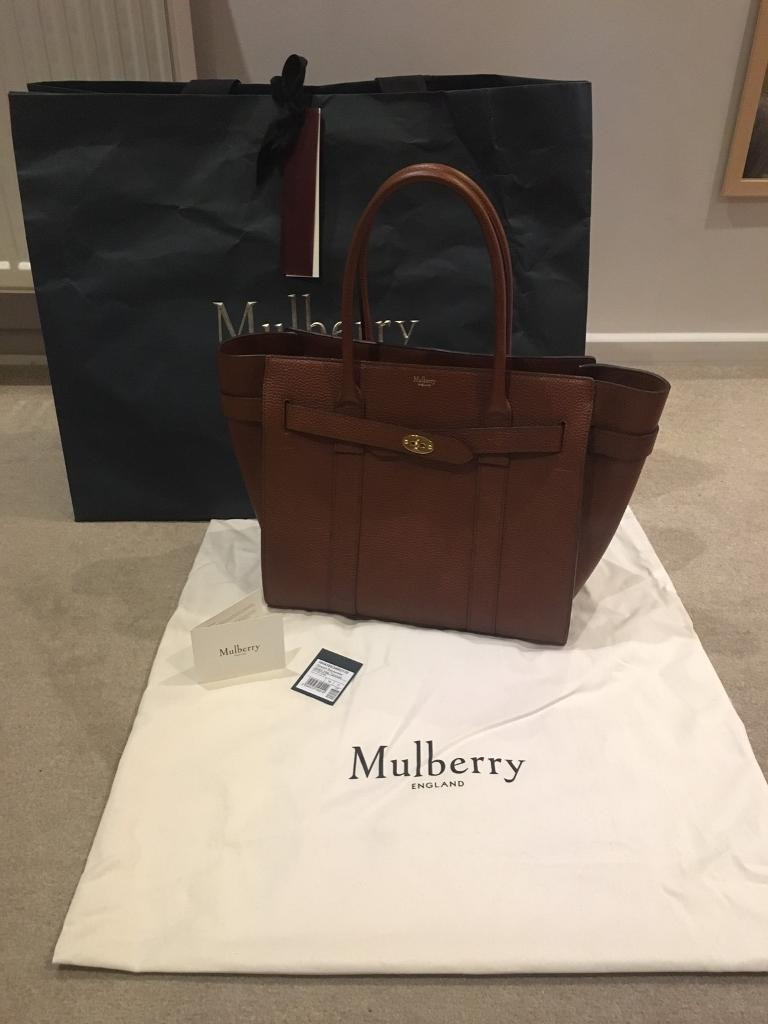 a0e892d52fac Genuine Mulberry large zipped Bayswater RRP £1350 as new