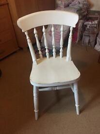 Shabby chic farmhouse style chair