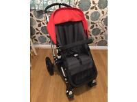 Bugaboo Cameleon 2 Pushchair With Carrycot In Red / Grey