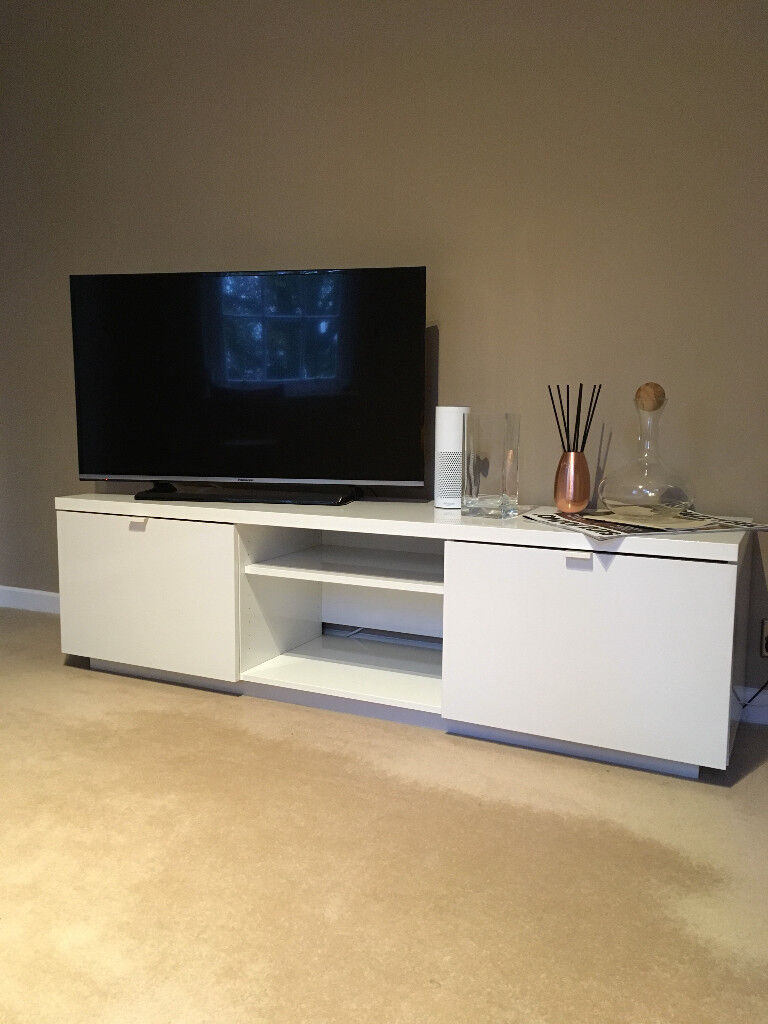 5c59aae07ea Ikea (Byas) White TV Unit   Stand with draws