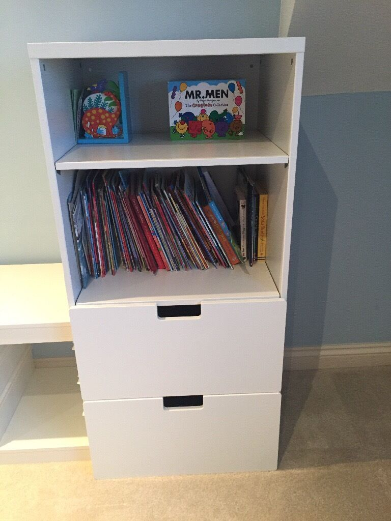 Ikea stuva drawer and bookshelf white in radstock for Ikea bookcase with drawers
